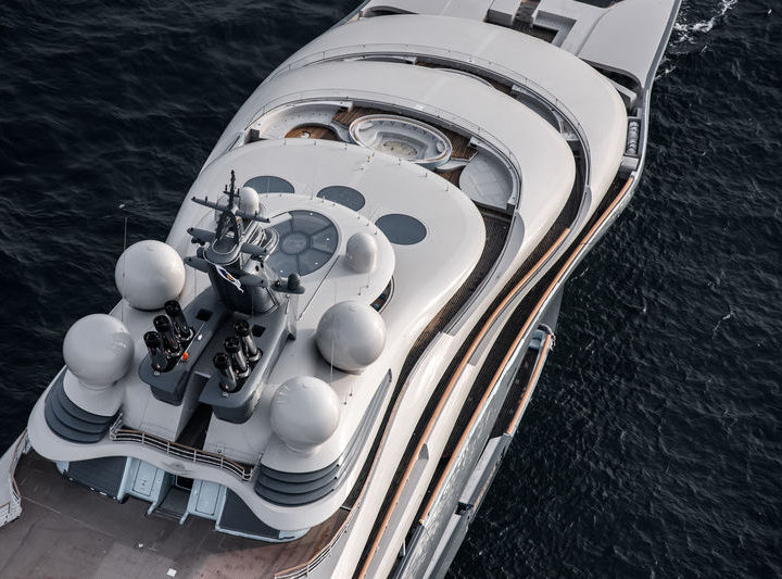 Lürssen's new mega superyacht SHU undergoing sea trials